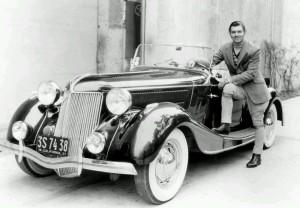 Clark Gable with his Jensen.