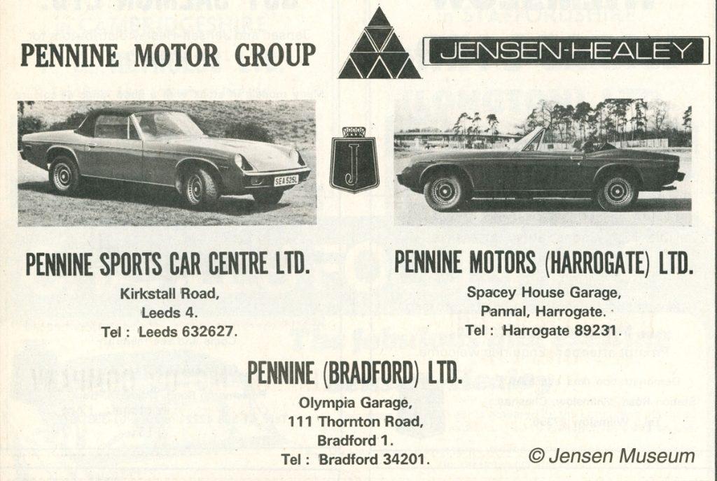 Jensen Motors Distributors A-Z