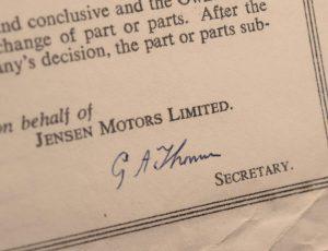 Jensen Motors | Company Secretary
