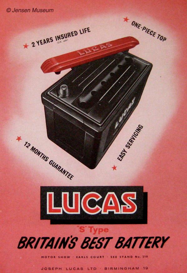 Lucas 'S' Range Batteries | 1960s Jensen Cars
