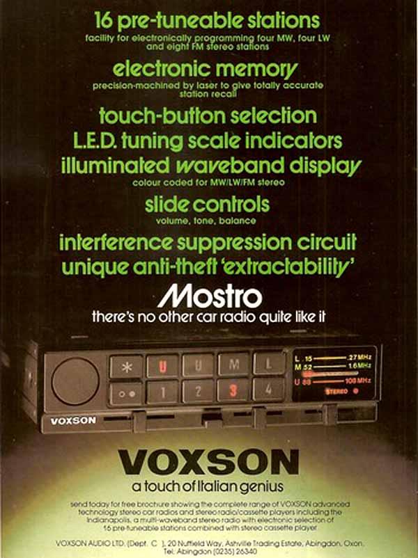 Voxson   A Tumultuous History