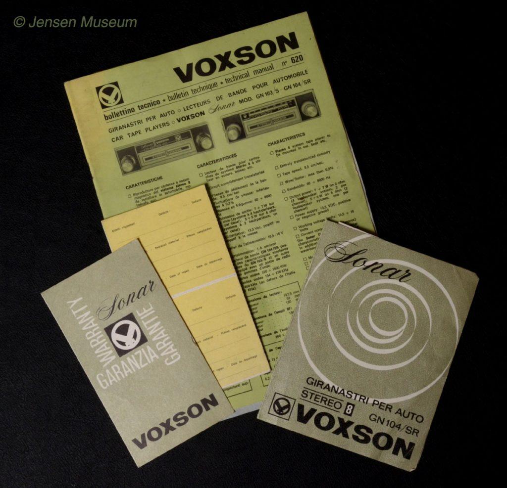 Voxson's Jensen Connection