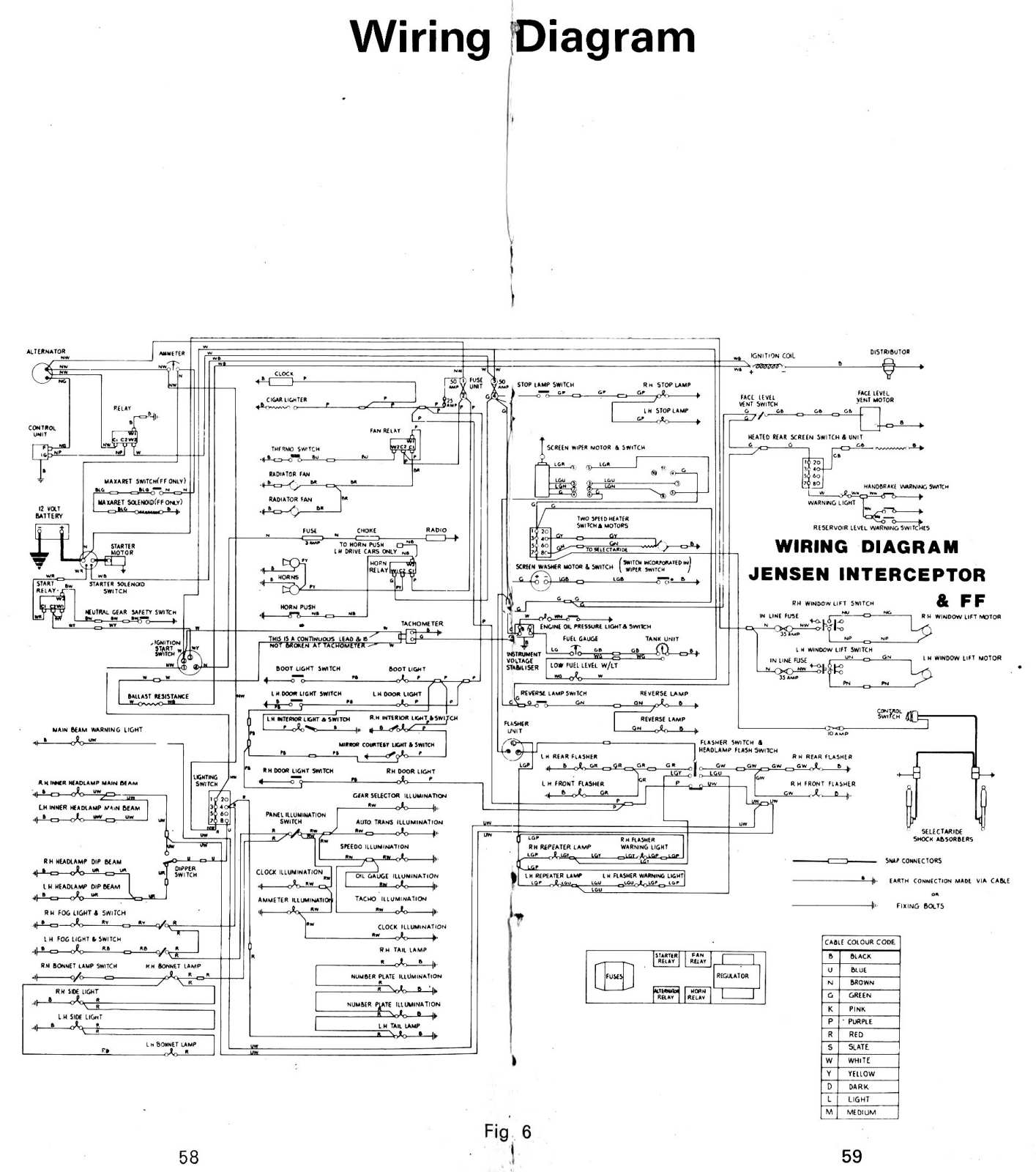 Jensen Interceptor Wiring Diagram Free Download Uv10 Electrical System The Museum