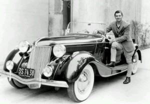 Clark Gable with his Jensen.