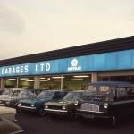 Jensen Motors distributor Normand Garage in the 1970s.