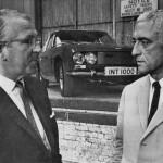 Pat Follett with Jensen Motors Managing Director, Carl Duerr.