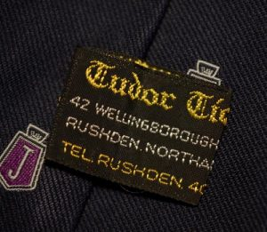 Manufacturer's label on the second style Jensen tie.