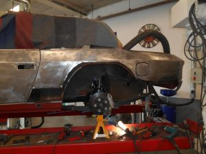 Some rust to the rear wheel arches and lower panels needed cutting out and replacing.