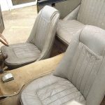 The front seats of the Jensen 541.
