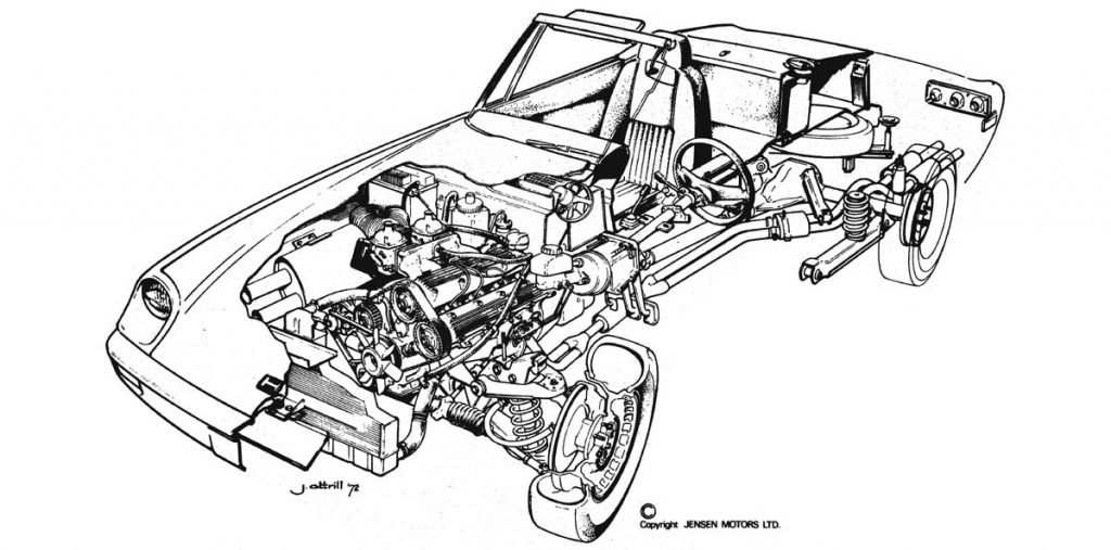 Jensen Healey | Cut-A-Way Drawing