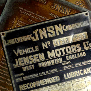 JNSN Lorry Chassis Plates | Vehicle 3133 / 289