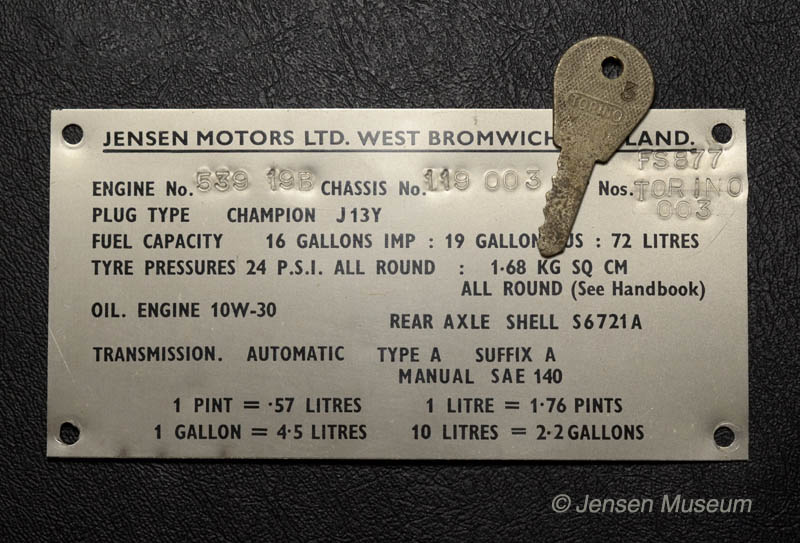 Jensen FF Chassis Number 119/003 | Harry Ferguson Research Car