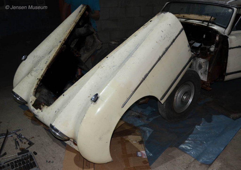 1954 Jensen Interceptor   Front Body Removal