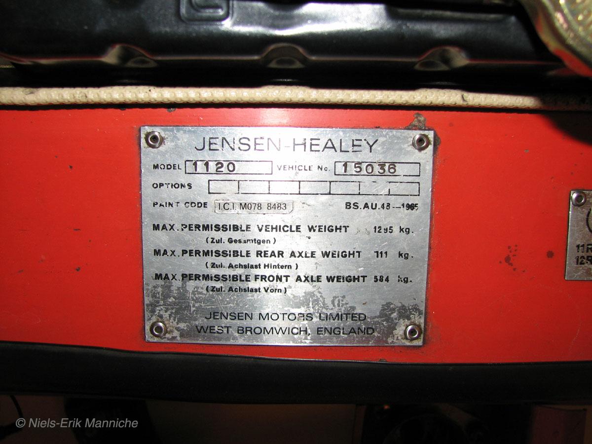 Jensen Healey 15 036 | Then & Now